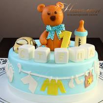 Торт на годик мальчику № 613 Д