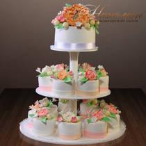 Свадебный торт с капкейками № 334 С