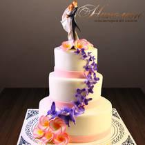 Свадебный торт с бабочками № 336 С