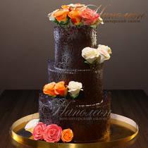 Свадебный торт шоколадный № 339 С