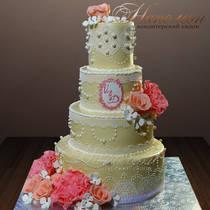 Кремовый свадебный торт № 341 С