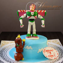 Торт мальчику на 3 года № 641 Д