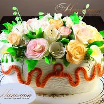 Торт корзина из мастики № 252 Т