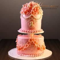 Торт на юбилей женщине № 269 Т