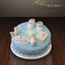 Детский торт на Крестины № 049 Д