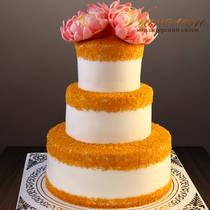 Свадебный торт с золотом № 359 С