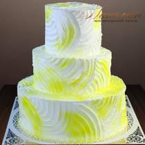 Свадебный торт со сливками № 360 С