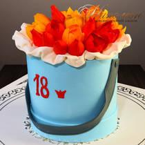 Торт девушке на 18 лет № 281 Т