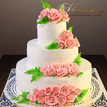 Свадебный торт с розами № 363 С