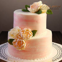 Свадебный торт двухъярусный № 365 С