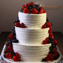 Свадебный торт с ягодами № 369 С