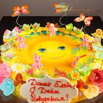 Торт девочке на 5 лет № 679 Д