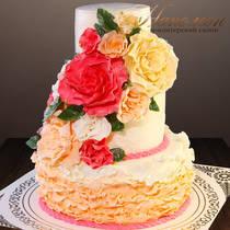 Свадебный торт № 374 С