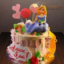 Торт девочке на 5 лет № 690 Д
