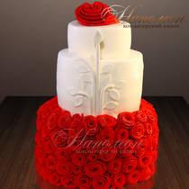 Свадебный торт с розами № 380 С