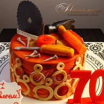 Торт на 70 лет мужчине № 308 Т