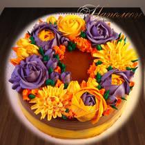 Торт с цветами № 310 Т