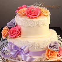 Красивый свадебный торт № 391 С