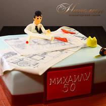 Торт на 50 лет мужчине № 314 Т