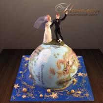 Свадебный торт с фигурками № 395 С