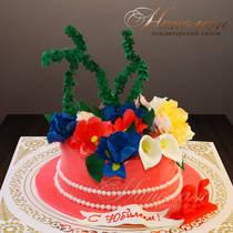 Торт на юбилей женщине № 322 Т