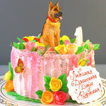 Торт с собакой № 733 Д