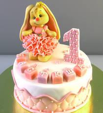 Торт с зайкой № 735 Д