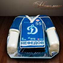 """Праздничный торт """"Динамовский свитер"""" № 014 М"""