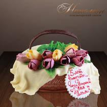 """Праздничный торт """"Тюльпаны"""" № 038 Т"""