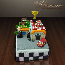 """Детский торт """"Тачки 2"""" № 089 Д"""