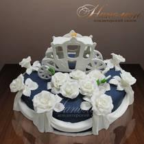 Свадебный торт с каретой № 068 С
