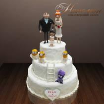 Свадебный торт № 054 С