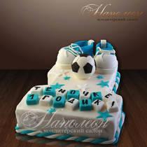 Торт на годик мальчику № 110 Д