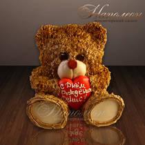 Торт Мишка с сердцем № 017 В