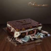 Торт чемодан с деньгами 004 М