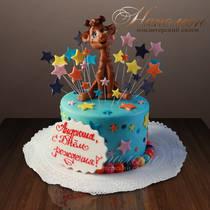 """Детский торт """"С жирафом"""" № 139 Д"""