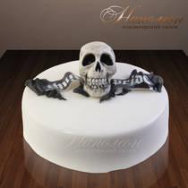 Торт с черепом 008 ор