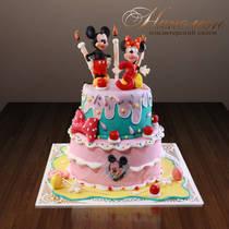 Детский торт Веселые Микки 141 Д