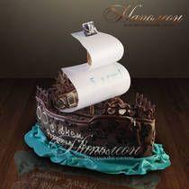 """Детский торт """"Пиратский корабль"""" № 008 Д"""