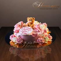 Детский торт Малышке в день рождения № 157 Д