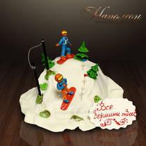 """Подарочный торт """"Все вершины твои!"""" № 016 Т"""