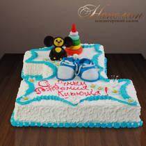 """Детский торт """"На годик"""" № 187 Д"""