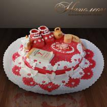 Торт новорожденному № 015 Д