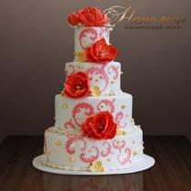 Свадебный торт № 154 С