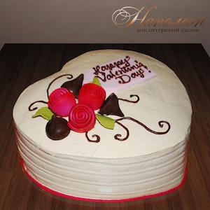 фото тортов для 14 февраля