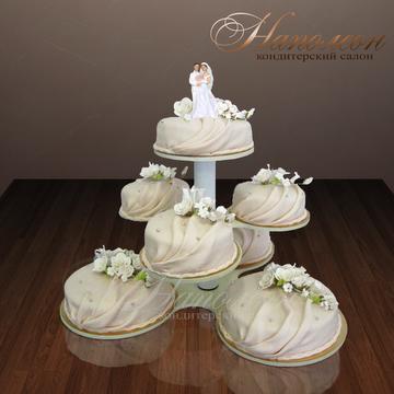 Свадебный торт фото с этажеркой