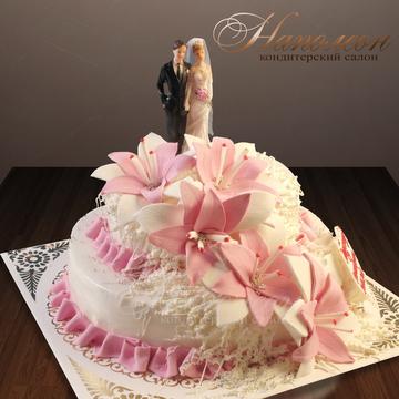 Свадебные торты от 300 рублей за кг.фото