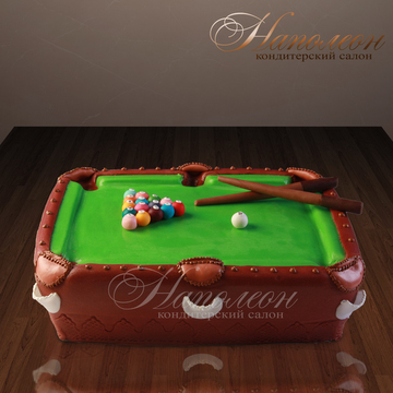 бильярдный стол фото-торт