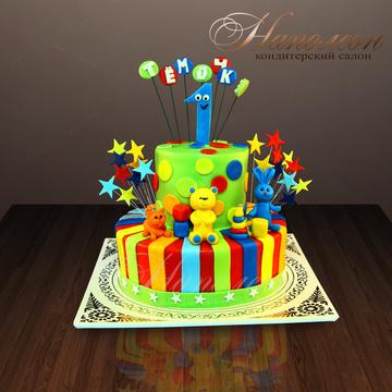 Яркие торты на годик фото
